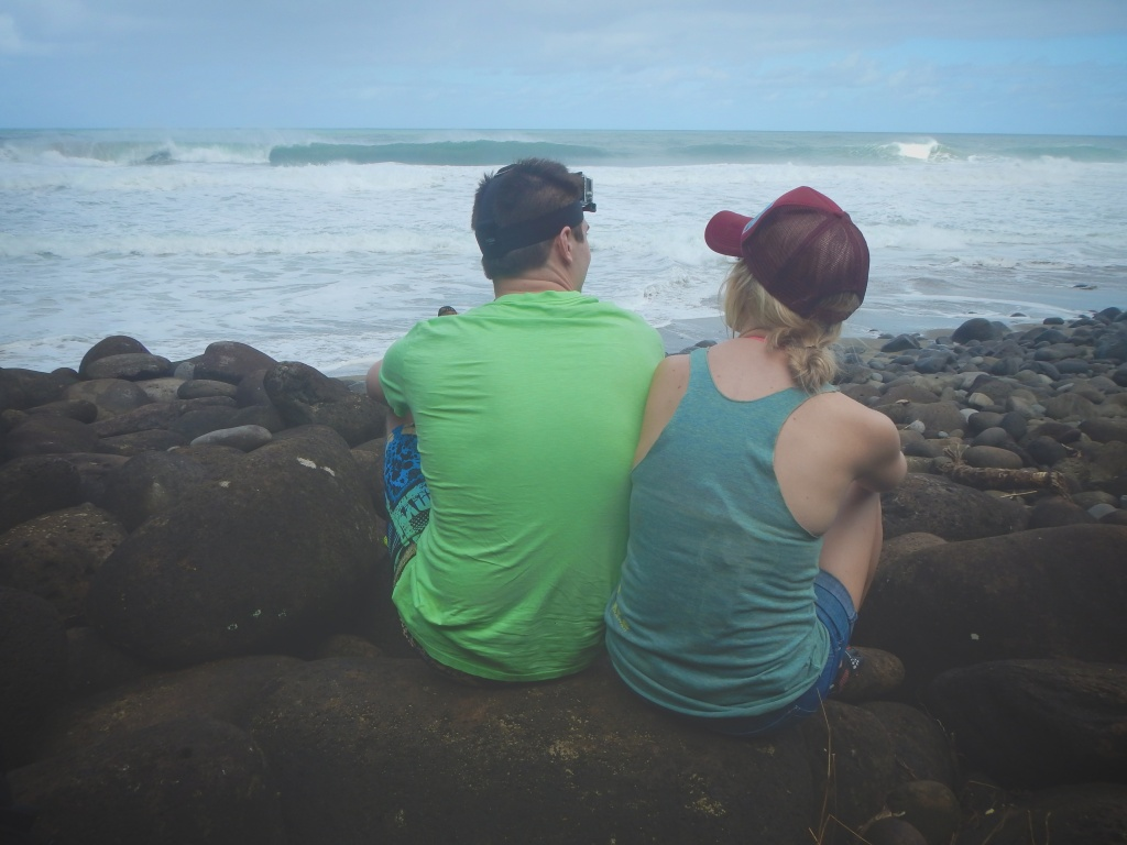 Holly & Eric enjoying the break and the view.