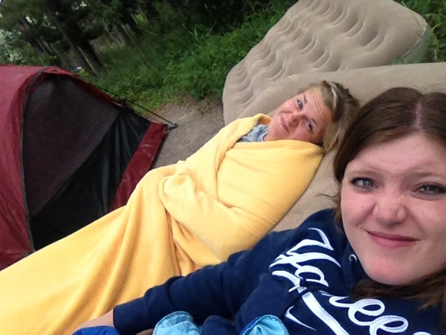 Napping in Waterton when we should be doing more adventurous things, like hiking.